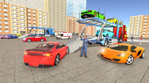 Code Triche Jeux transporteur de voiture: Jeux de camions APK MOD (Astuce) screenshots 2