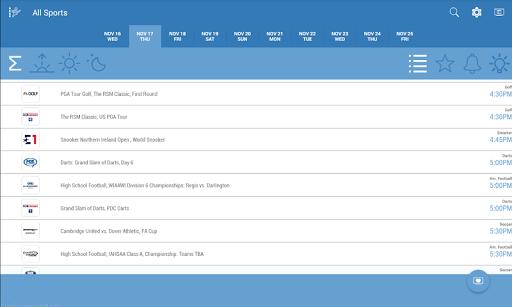 Live Sports TV Listings Guide 2.92 Screenshots 4