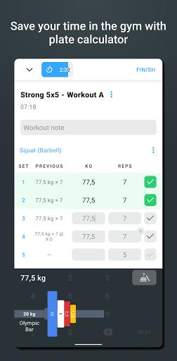 Strong - Workout Tracker Gym Log  Screenshots 3