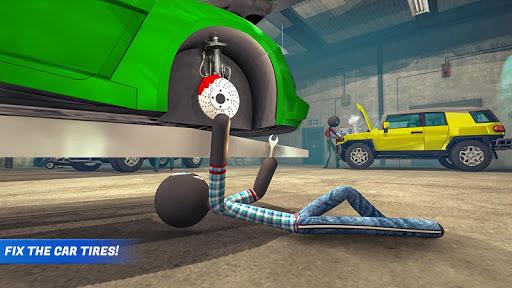 Stickman Car Garage Repair Shop  screenshots 2