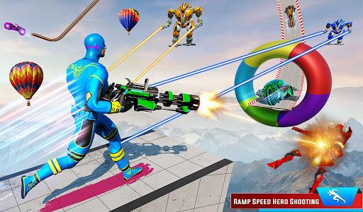 Speed Hero Robot Ramp Bike Transform Robot Games 1.7 screenshots 7