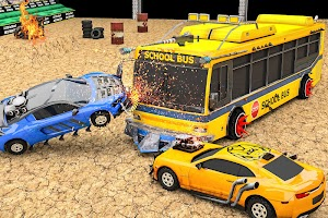 Real Monster Bus Derby: Car Shooting Game 2020