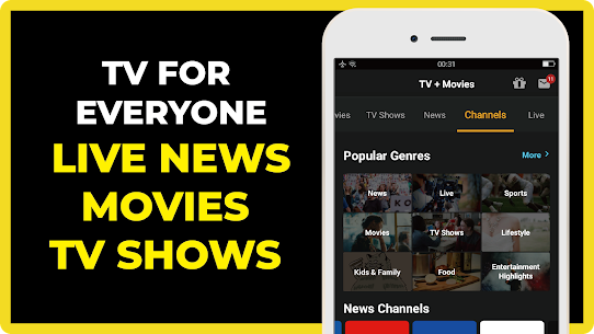 FREECABLE TV App: Free TV Shows, Free Movies, News 3