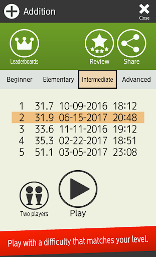 Mental arithmetic (Math, Brain Training Apps) 1.6.2 Screenshots 18