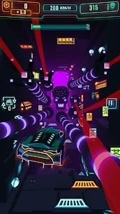 Neon Flytron: Cyberpunk Racer Mod Apk (Unlocked/No Ads) 4