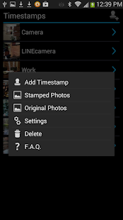 Camera Timestamp Add-on Screenshot