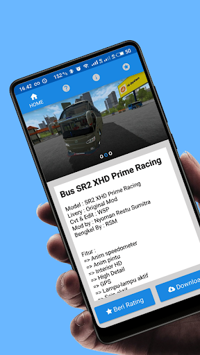 Mod Bus SR2 XHD Prime Racing BUSSID Terbaru 2021 1.3 Screenshots 3