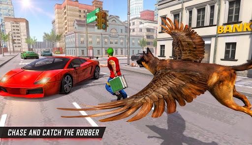 Flying Super Hero Dog City Animal Rescue 1.0.10 screenshots 1