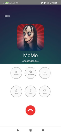 Momo scary fake call video and voice and chat  Pc-softi 4