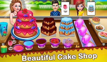 Cake Shop Cafe Pastries & Waffles cooking Game