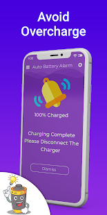 Automatic full charge battery alarm