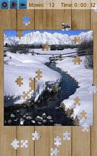 Snow Landscape Jigsaw Puzzles Screenshot