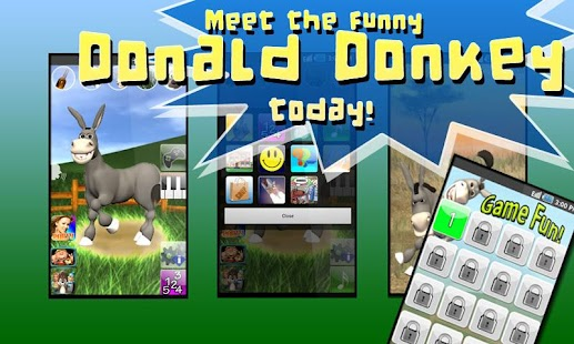 Talking Donald Donkey AdFree Screenshot