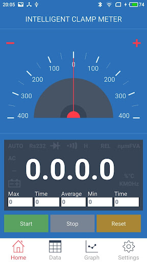 intelligent clamp meter screenshot 1