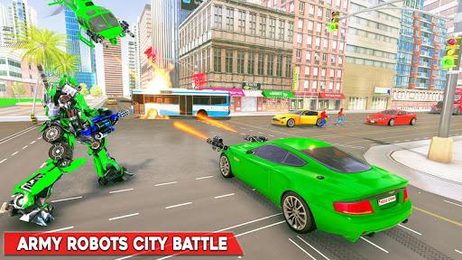Army Bus Robot Transform Wars u2013 Air jet robot game apkpoly screenshots 3