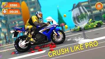 Monster Bike Game Crush: Bike Crushing Games