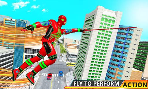 Flying Hero Robot Transform Car: Robot Games Apkfinish screenshots 4