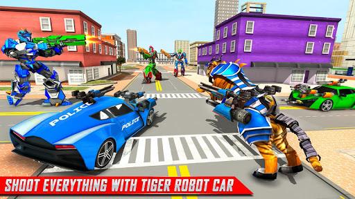 US Police Tiger Robot Game: Police Plane Transport 1.1.9 screenshots 8