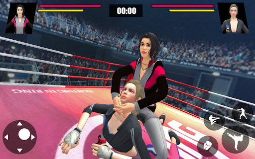 Women Wrestling Ring Battle: Ultimate action pack apkslow screenshots 6