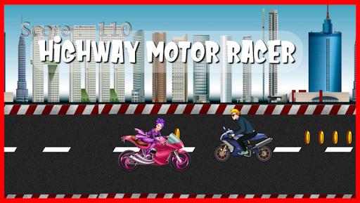 highway motor racer : girl game screenshot 1