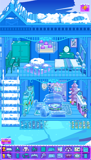 Frozen Dollhouse Design,Ice Dollhouse for girls android2mod screenshots 1