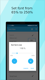 Font Size (ad free) APK 3