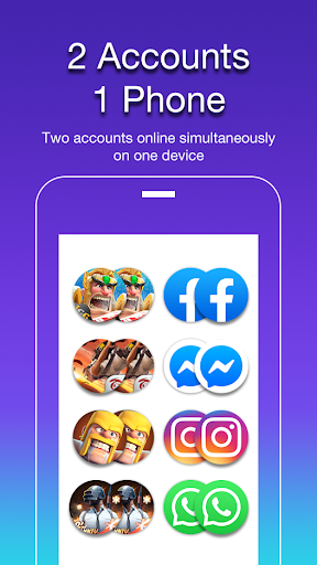 2accounts - dual space screenshot 1