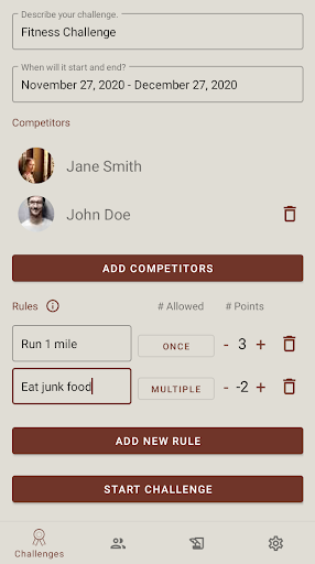 Pointagon - Custom Accountability Challenges 1.1.5 screenshots 1
