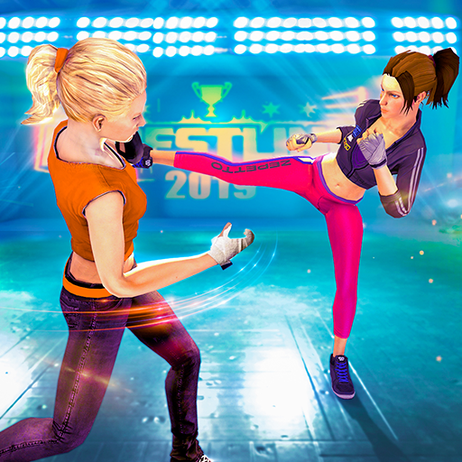 Girls Wrestling Ring Fight Champions