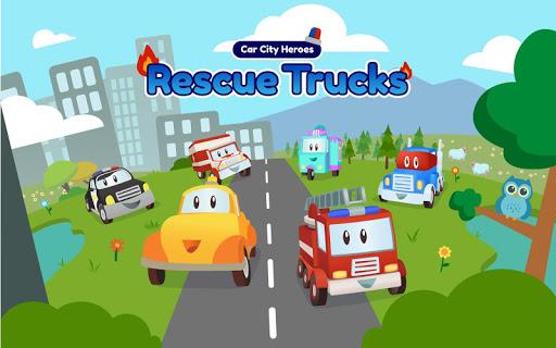 Car City Heroes: Rescue Trucks Preschool Adventure android2mod screenshots 9