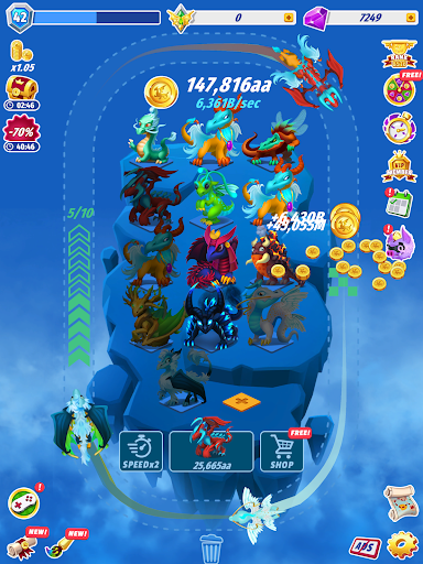 Dragons Evolution - Best Merge Idler 2.1.15 screenshots 7