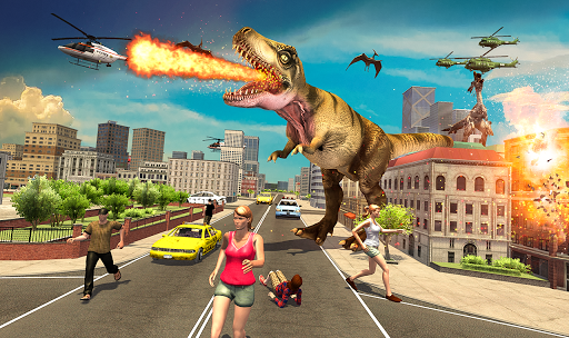 Monster Dino Vs King Kong-City Rampage Simulator apkmartins screenshots 1