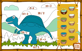 Dino math - free coloring game for kids