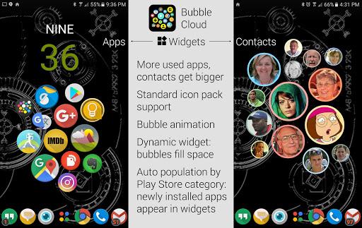 Bubble Cloud Widgets + Folders for phones/tablets apkmartins screenshots 1