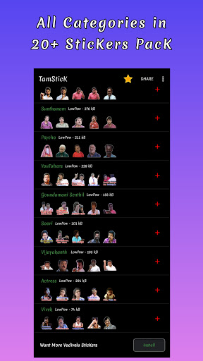 TamStick - Animated Tamil Stickers, WAStickerApps android2mod screenshots 2