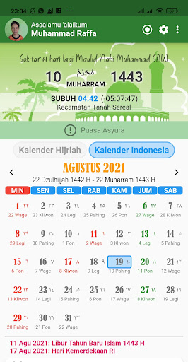Kalender Hijriah -Puasa Sunnah android2mod screenshots 2