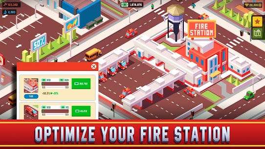 Idle Firefighter Empire Tycoon Mod Apk- Management Game (Unlimited Money) 3