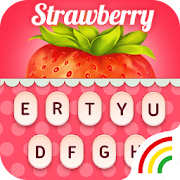 Fruit Keyboard Theme - Strawberry Emoji & Gif