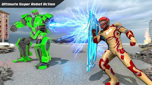 Télécharger Gratuit Flying Rope Hero Rescue Robot APK MOD (Astuce) screenshots 2