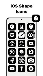 iOS 14 Black – Icon Pack MOD APK 5.4 1