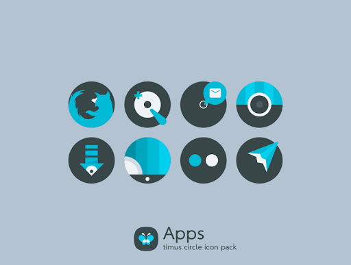 Download APK: Timus Circle Dark Icon Pack v6.1 [Patched]