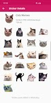screenshot of New Funny Cat Memes Stickers WAStickerApps