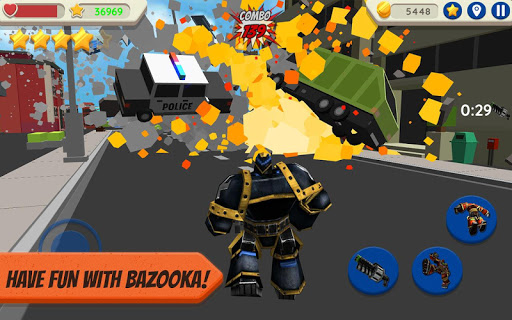 robot hero: city simulator 3d screenshot 3