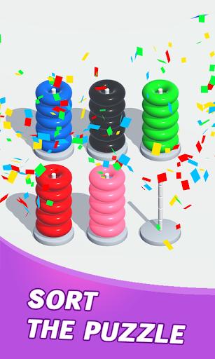 Color Sort Puzzle: Color Hoop Stack Puzzle 1.0.11 screenshots 3