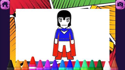 Superhero Coloring Book - Kids  screenshots 11