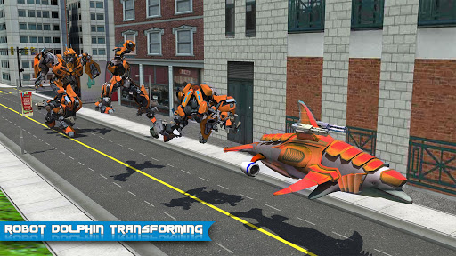 Futuristic Robot Dolphin City Battle - Robot Game 1.5 screenshots 2