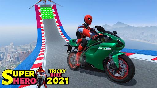 Superhero Tricky bike race (kids games) android2mod screenshots 13