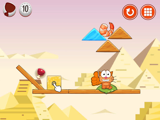 Hungry cat: physics puzzle game apkdebit screenshots 9