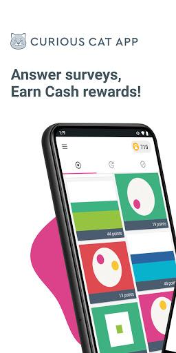 Curious Cat App: Paid Surveys  screenshots 1