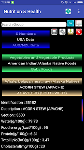 Nutrition & Health Data on food. Know what you eat Screenshot